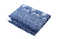 170314 Little Majlis-Cotton Throw 001 Blue & White Blanket-EC4A4259