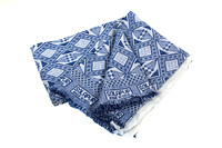 170314 Little Majlis-Cotton Throw 001 Blue & White Blanket-EC4A4256